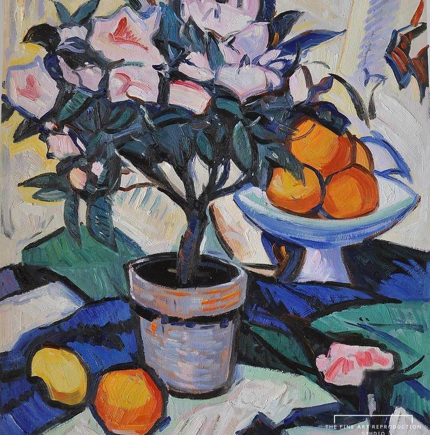 Peploe Pink Azalea and Oranges