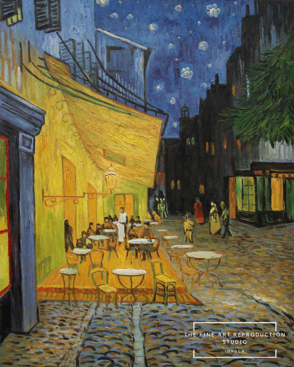 Van Gogh cafe terrace at night oil painting reproduction
