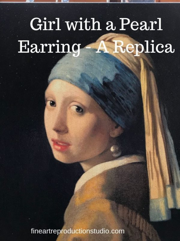 Girl with a pearl earring on canvas