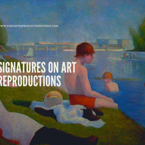signatures on reproduction paintings